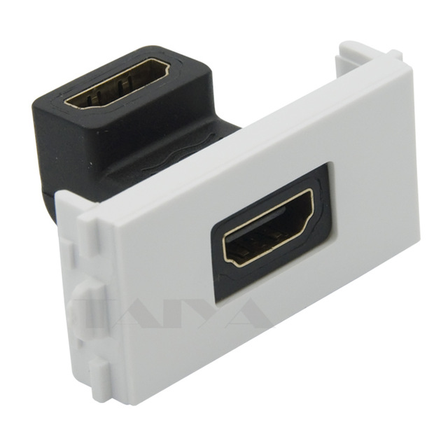 HDMI Female To Female Connector With 90 Degree Angle Side HDMI Wall Plate Face Plate
