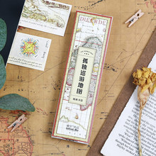 Buy bookmark map and get free shipping on aliexpress 30 pcslot vintage world map bookmark travel map paper card book holder message card gumiabroncs Image collections