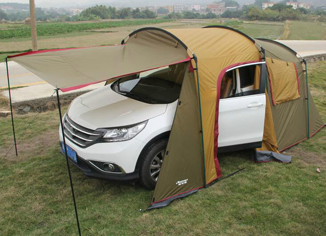 Outdoor 5-8 Persons Car Travel Tent For C&ing Self-Driving Traveling Tent Awning & Outdoor 5 8 Persons Car Travel Tent For Camping Self Driving ...