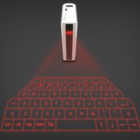 2 In 1 Virtual Keyboard External Key Projection Keypad Charge Bank Portable Smart Phone Tablet PC Notebook