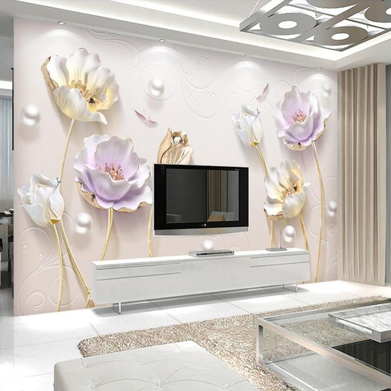Dekoratif Wallpaper Timbul Sederhana Baru Gaya Cina Perhiasan Tiga