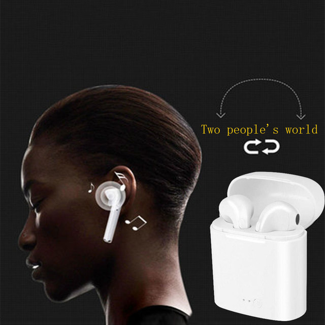 Hot Selling Wireless Bluetooth Earbuds i7 TWS Earphones Twins Earpieces Stereo Headset Casque Sans Sport Charger Box Headphones 5