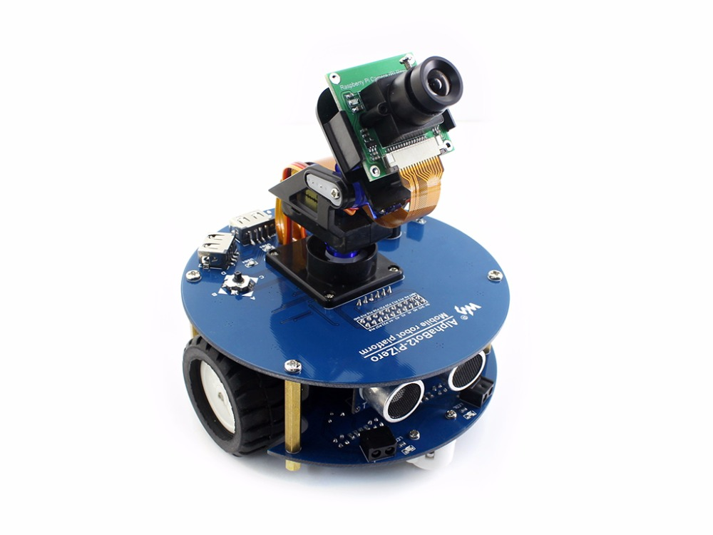 Parts AlphaBot2 robot building kit for Raspberry Pi Zero/Zero W (no Pi) +Ultrasonic sensor+RPi Camera (B)+Pi Zero V1.3 Camera Ca modules alphabot pi raspberry pi robot kit raspberry pi 3model b alphabot camera module