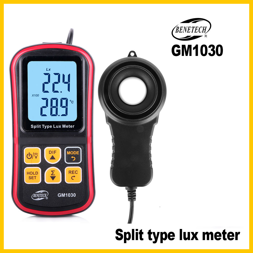 Digital Luxmeter Light Meter  200,000 Lux Photometer Mini Handheld Luxmeter Illuminometer GM1030-BENETECH