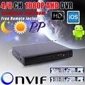 Nova chegada 1080 P AHD-H 4 canais AHD DVR gravador de 3 em 1 híbrido DVR 8 canais AHD DVR 1080 P AHDH para 1080 P AHD câmera