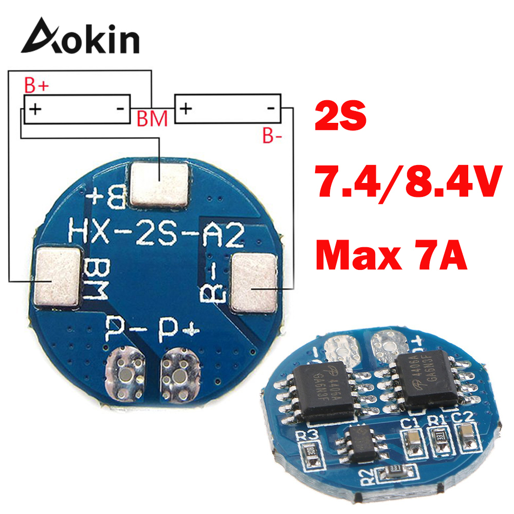 2s 5a Li-ion Lithium Battery 7.4v 8.4v 18650 Charger Protection Board Bms Pcm For Li-ion Lipo Battery Max 7a Diy Kit