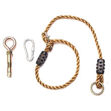 Adjustable Swing Rope for Tree Beam Swing Outdoor Toy Playground Accessory Snap Hook Rope Swing Accessories Set(China)