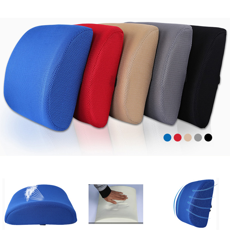 Seat Cover Space Memory Cotton Lumbar Support Car Seat Cushion Tournure Back Cushion Waist Support Cushion Lumbar Pillow