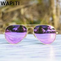 2018 Aviator Sunglasses Men Women Metal Frame Flash Mirror Fishing Driving Sun Glasses UV400 Shades Gafas