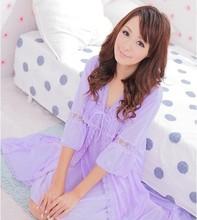 Elegant Sweet Heart Comfortable Sexy Lingerie Nightwear Nightgowns Women's Sleep Lounge Sleepshirts Sleepwear Kimono Bobydoll