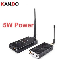 5W 15ch 0.9G-1.2G Wireless cctv transceiver 1.2G Video Audio Transmitter image transmission fpv transmitter AV drone transmitter