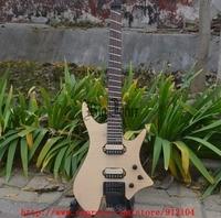 Nieuwe ventilator fretted headless elektrische gitaar flame maple top mahonie body natuurlijke gratis verzending BJ-64