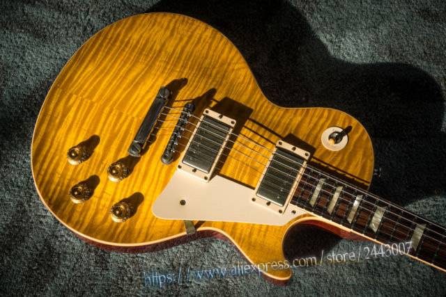 все цены на GC Custom Shop Tom Murphy Aged Historic Reissue 1959 R9 Lemonburst Yamano Electric Guitar онлайн