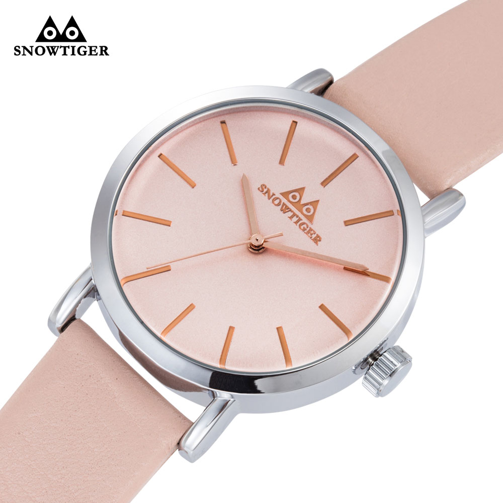Vintage Pink Men Women Watches Unisex wristwatch Classic Genuine Leather Fashion Waterproof Quartz Relogio Montre Femme Gift new hot fashion unisex women men hipster vintage retro classic half frame glasses clear lens nerd eyewear 4 colors