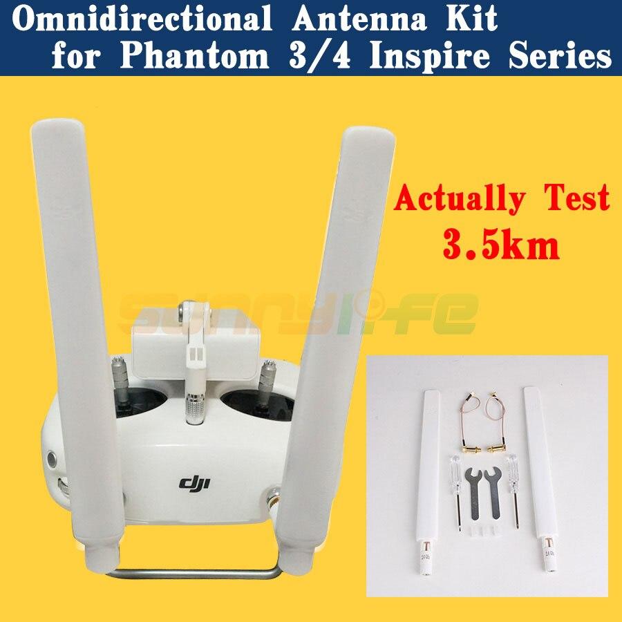 Refitting Antenna Kit Modified Omnidirectional Antenna Extended Range FOR DJI Phantom 4/3 Inspire 1 Remote
