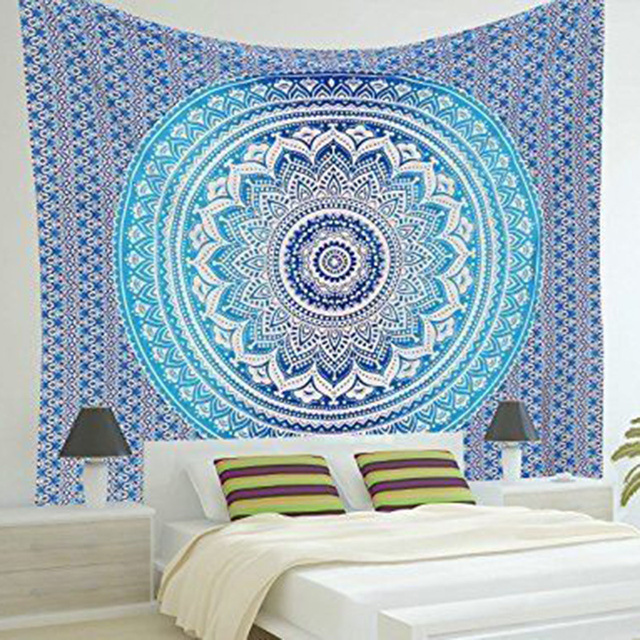 Indian Mandala Tapestry Print Wall Hanging Hippie Tapestries Bohemian  Summer Beach Throw Towel Yoga Mat Blanket Decor 210x150cm 34ce41dbe