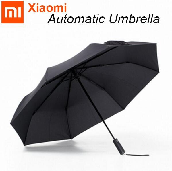 imágenes para Original Xiaomi Mijia Automática Sunny Rainy Umbrella UV Paraguas De Aluminio a prueba de Viento Impermeable Hombre mujer Verano Invierno Reciente