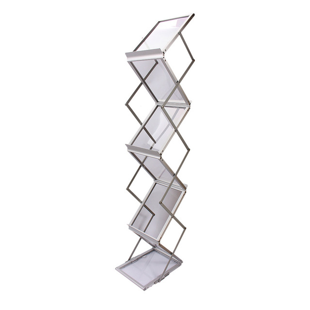 aluminum alloy display stand folding brochures pamphlets books