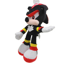 SHANG JI1pcs 30cm Sonic The Hedgehog Plush Toys Doll Black Shadow Sonic Plush Soft Stuffed Toy