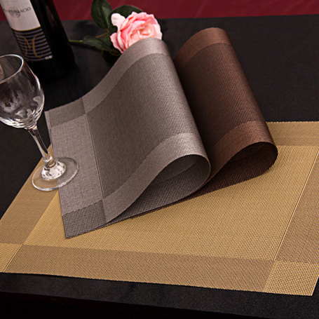 4Pcs/lot New PVC Dining Table Placemat Europe Style Kitchen Tool Tableware Pad Coaster Coffee Tea Place Mat Free Shipping
