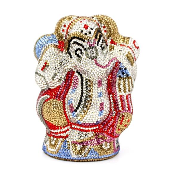 100% handmade New   luxury diamond evening bags gold clutch purse bolsa feminina mini wallets solid bag bridal purse clutches