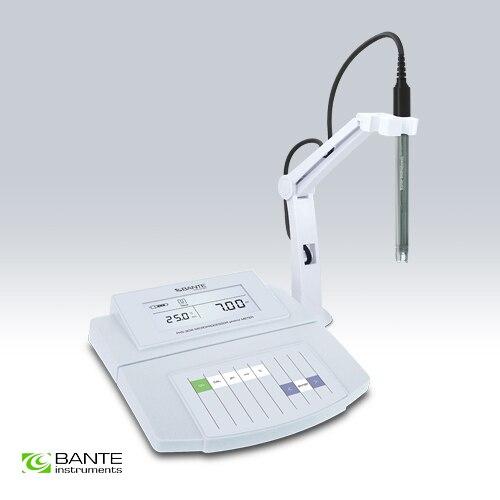 Certificado do ce Marcas Autenticas Bante Laboratório Padrão Bancada ph mv Temperatura Medidor Monitor Tester Analyzer Atc Precisão +-0.01ph
