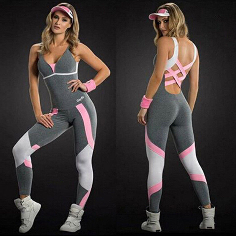 2019 Brand New Us Stock Women Ladies Gym Playsuit Clothes Exercise Sport Top Running Sportswear Soft Yoga Jumpsuit2019 Brand New Us Stock Women Ladies Gym Playsuit Clothes Exercise Sport Top Running Sportswear Soft Yoga Jumpsuit