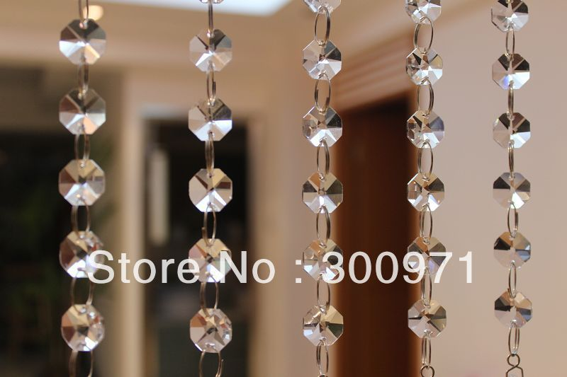 10 inch(25cm) long 5pcs/lot crystal prism chandelier bead chain,crystal prisms for lighting chain,Free shipping by post air mail