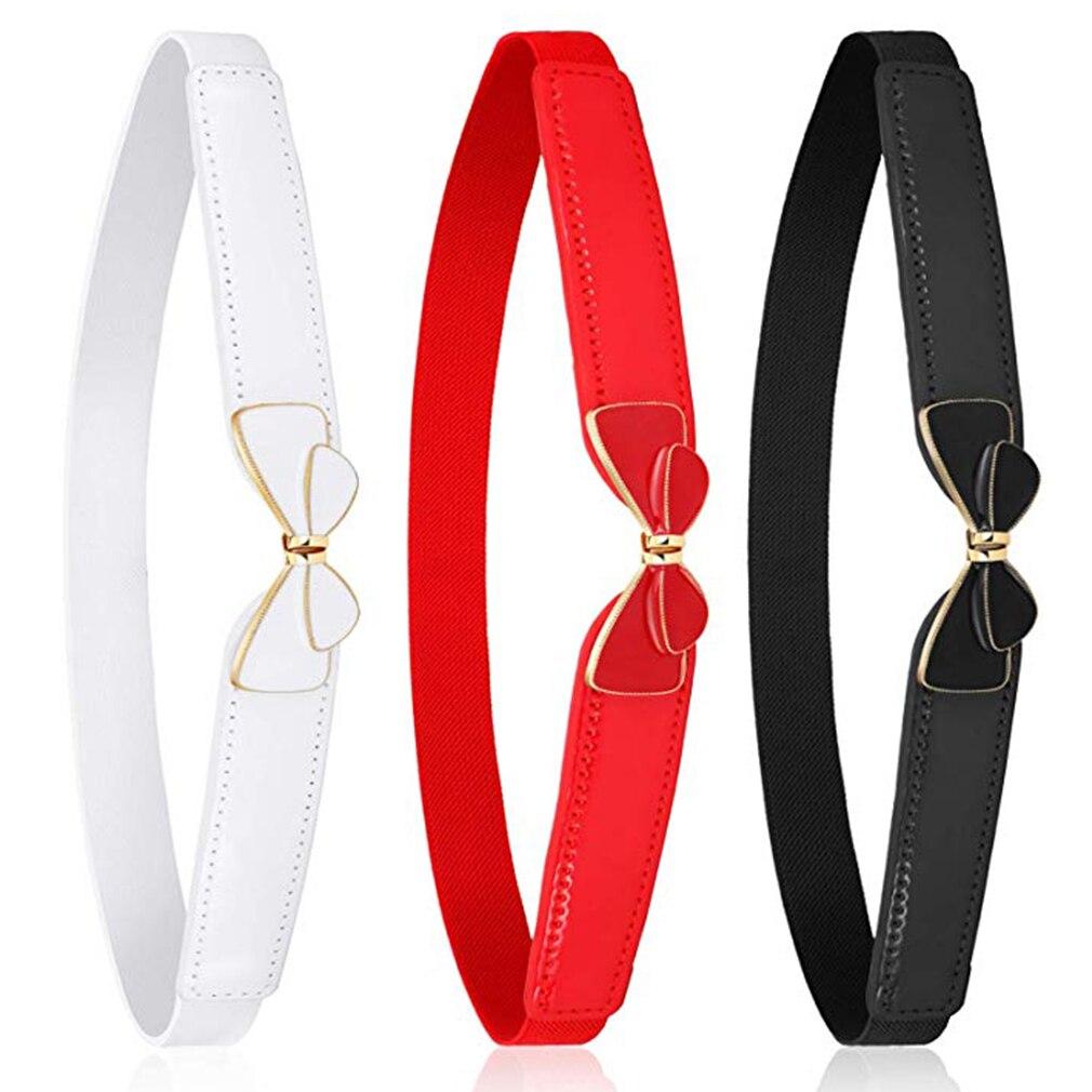 Bow Belt Cummerbunds With Buckle Belts Thin Elastic Cummerbund For Dress Pants Apparel Accessories Cinturon Mujer Women Belts