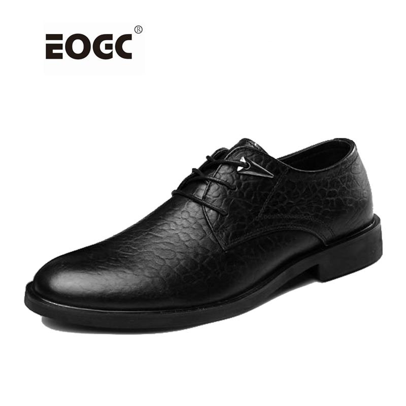 Äkta Läder Män Oxford, Mode Bussiness Skor För Män, Handgjorda Män Bröllopskläder Skor, Högkvalitativa Män Läder Skor