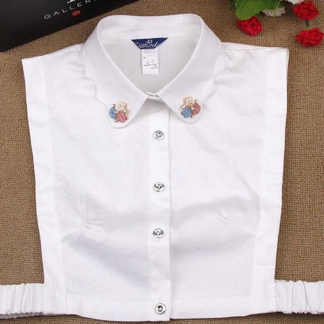 Trui Met Kraag Dames.Valse Kraag Dames Verwisselbare Fake Shirt Trui Hoogwaardige Bead