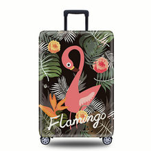 2018 new Elastic Thickest Flamingos Luggage Cover Suitcase Cover for Trunk Case Apply to 19''-32'' Suitcase Cover Protective(China)
