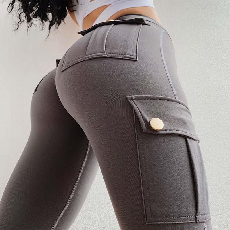 SALSPOR Women Yoga Pants High Waist Military Style Sport Leggings Gym Slim Fit Pocket Sweatpants Outdoor Running Fitness Pants