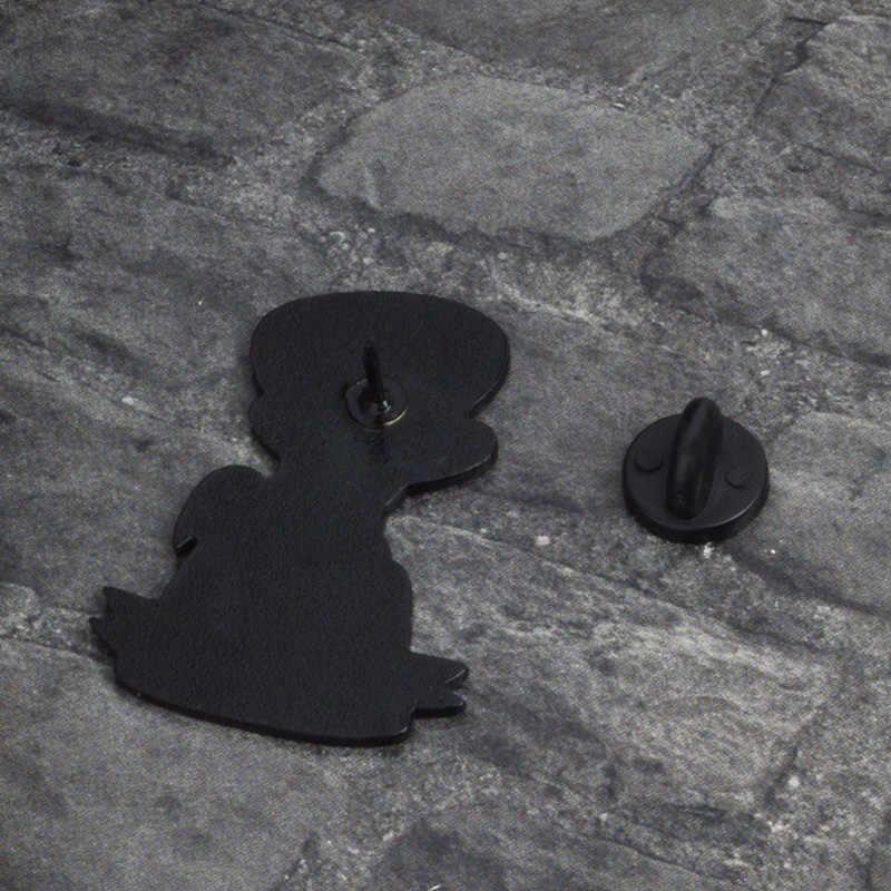 Picasso стиль Эдгара Эмаль заколка в виде цветка Забавный рисунок брошь с иконкой значок джинсы для лацканами прищепки с козырьком, шапка сумка из меха креативные ювелирные изделия