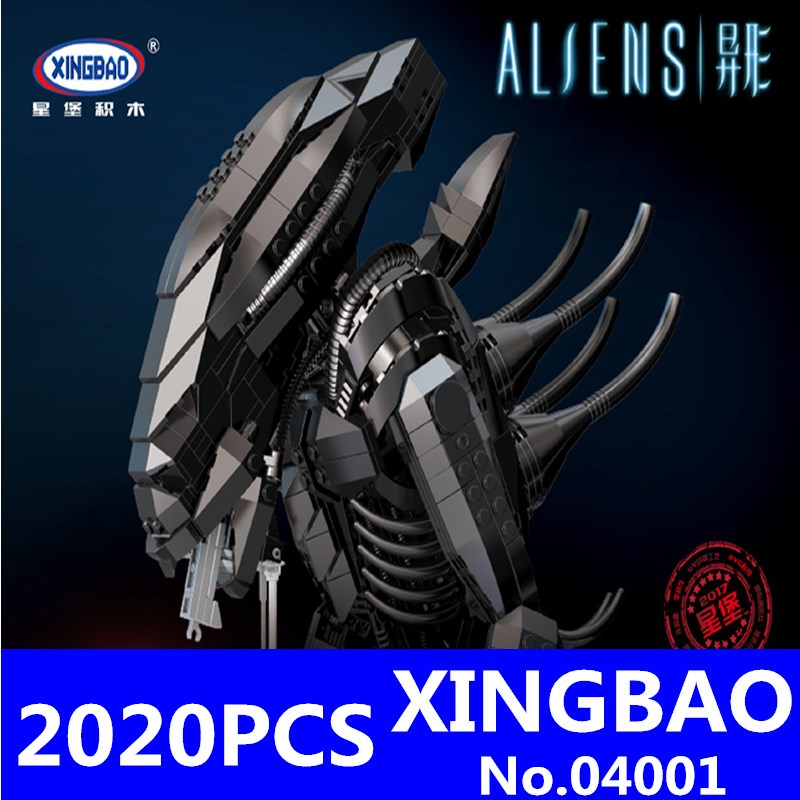 XINGBAO 04001 Creative Movie Series Alien Robot Set 2020Pcs Äkta Kit Educational Building Blocks Tegel Leksaker för barn