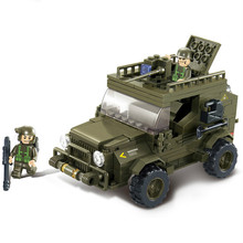 Sluban Military Army Jeep 3D Construction Plastic Educationa Model Building Blocks Bricks Compatible With Legoe 221PCS
