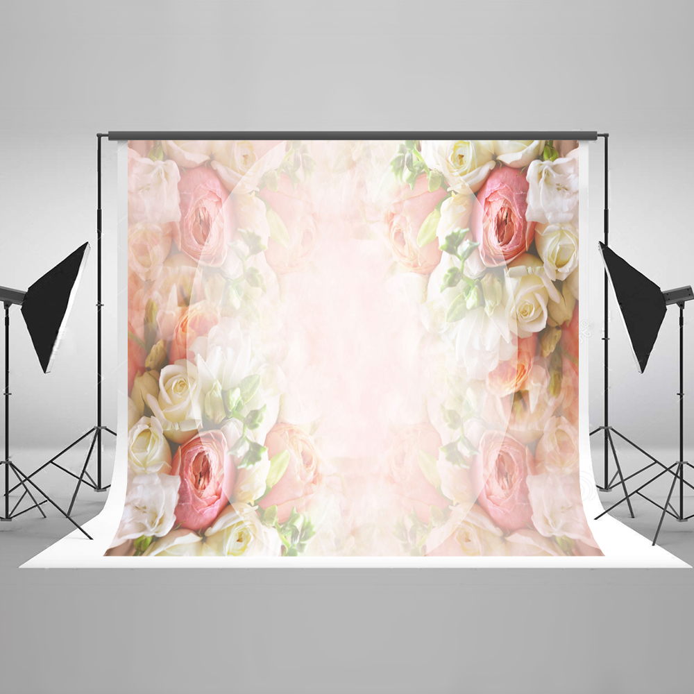 Kate 7x5 Backdrop for Photography Cotton Seamless Colourful Flower Rose Wall Romantic Background for Wedding Photo Studio 10ft 20ft romantic wedding backdrop f 894 fabric background idea wood floor digital photography backdrop for picture taking