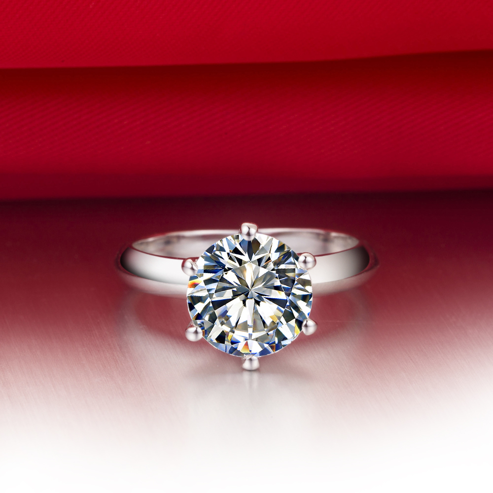 3Ct Round Cut Classic Engagement Ring for Women 925 Sterling ...