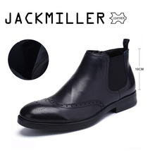 Jackmiller Top Brand Spring Autumn Men Boots Full Grain Leat