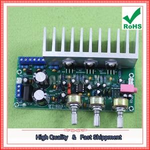 Image 3 - Tda2050 + tda2030 2.1 three channel/way módulo subwoofer placa amplificador terminado pé 60 w 0.6 kg