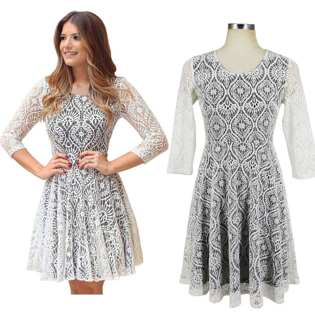 Knee Length Lace Party Dress