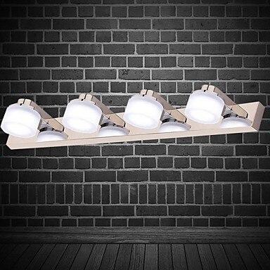 Художественный Нержавеющаясталь покрытие Современные LED Ванная комната зеркало свет с 4 фары, настенный светильник светодиодный свет бра ...