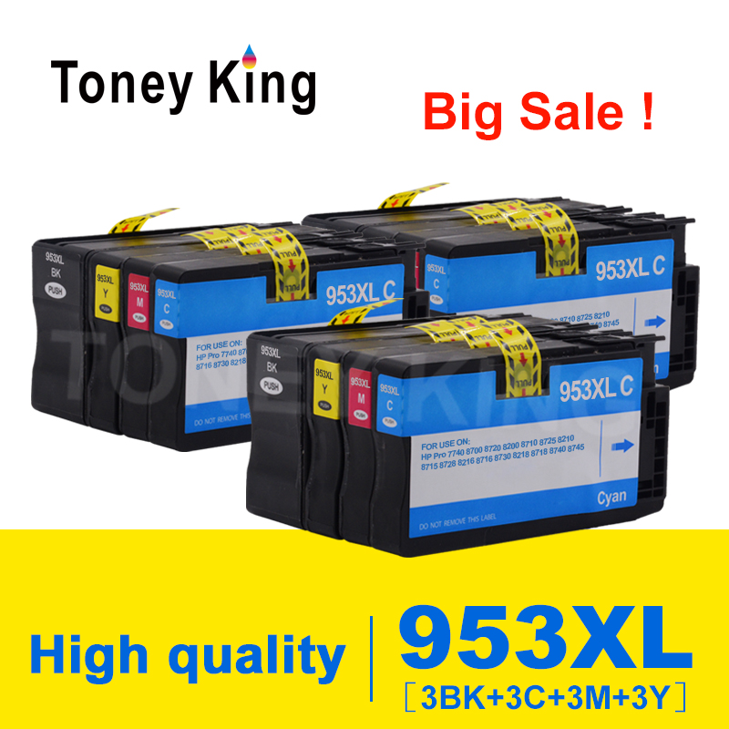953XL Printer Ink Cartridges For HP953 For <font><b>HP</b></font> <font><b>953</b></font> XL OfficeJet Pro 7740 8700 8720 8200 8710 8725 8210 8715 8728 8216 Cartridge image