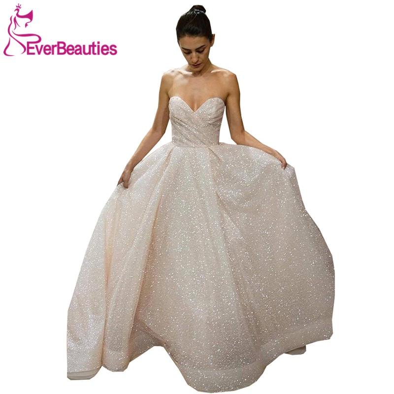 Wedding Dress 2019 Vestidos De Novia Shiny Bride Sweetheart for Robe Mariee
