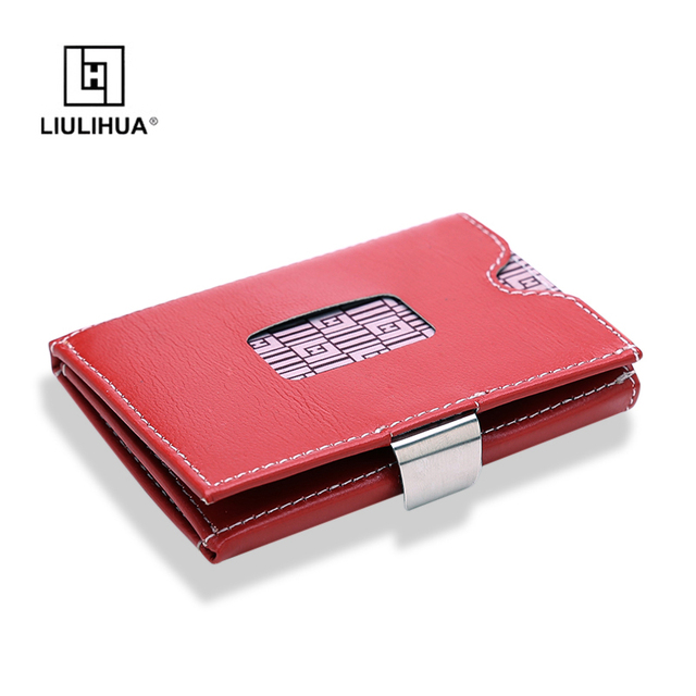 LLH 100% Real leather credit card holder