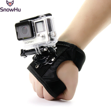 SnowHu For GoPro 360 Degree Rotation Hand Strap Wrist Belt Mount for Gopro Hero 7 6 5 4 3 For XiaoYI For Yi Sjcam Action Camera puluz adapter mount for gopro hero 5 6 7 360 degree rotation bike aluminum handlebar mount screw for gopro hero 7