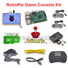 Cheapest prices Raspberry Pi 3 Model B 16GB RetroPie Game Console Kit with 2pcs SNES Controllers Gamepads & 5 inch 800*480 Touch Screen