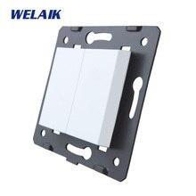 WELAIK EU-standard DIY-запчасти-настенная розетка-части-без стекла-панель A8BKW/B
