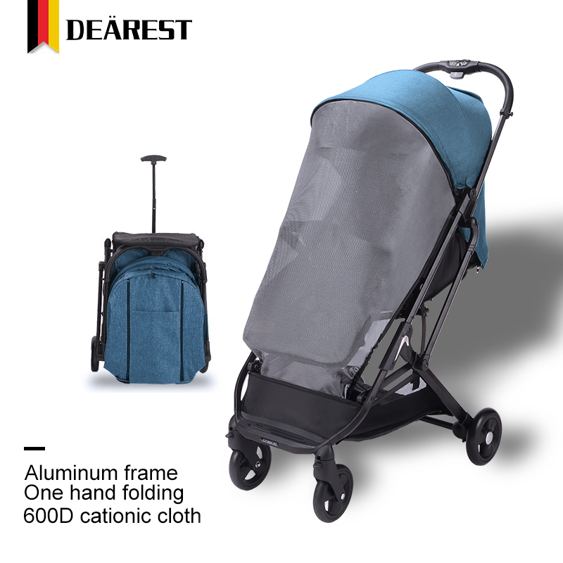 Dearest 2020 One Hand Folding Baby Stroller With Luggage Pull Lever