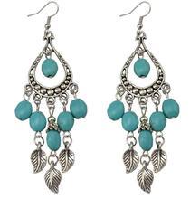 SBY1399  New Fashion luxury Beads Bohemian Blue Watderdrop Leaves earrings women jewelry free shipping